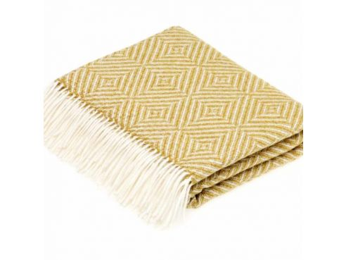 Gold Vienna Herringbone Throw