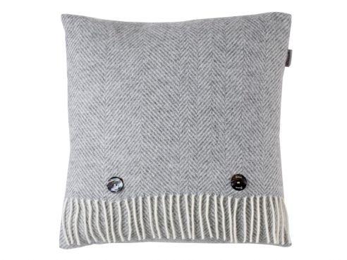 Herringbone Cushion Grey