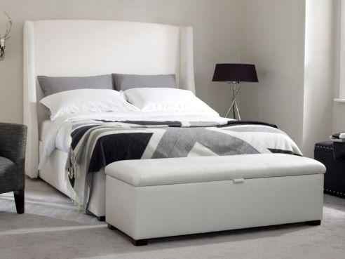 Rowe Double Divan Bed-Black Faux Leather