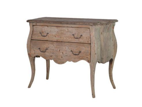 Colonial Reclaimed Pine 2 Drawer Plain Chest