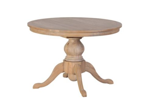 Weathered Oak Round Extending Dining Table