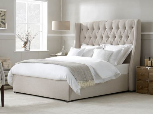 King Size Beds Fabric Upholstered Divan Sleigh On Legs More