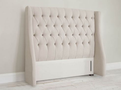 new style e30a6 3b8fc Single Bed Headboards: Fabric Upholstered, Cushioned, Buttoned