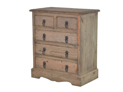 Colonial Reclaimed Pine 5 Drawer Chest