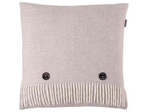 Herringbone Cushion Beige