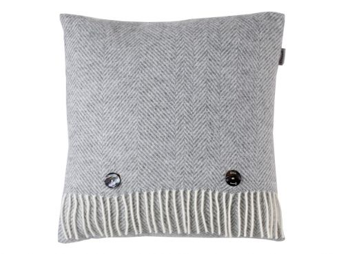 Herringbone Cushion Grey