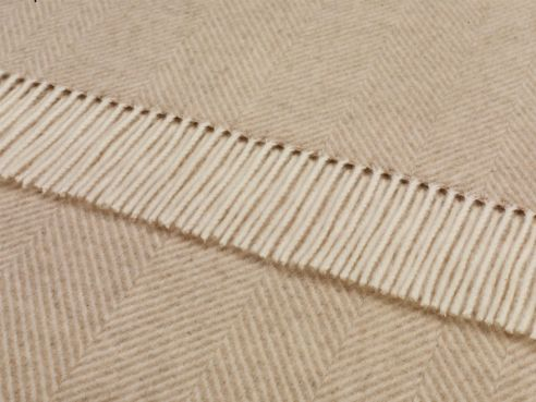 Herringbone Throw Beige