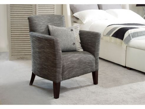 Lawrence Fabric Tub Chair-Senna Marmore