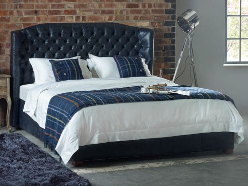 Wordsworth Leather Bed