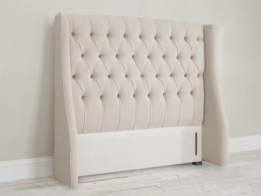 Austen Headboard. French Style Headboards  Fabric Upholstered  Cushioned  Buttoned
