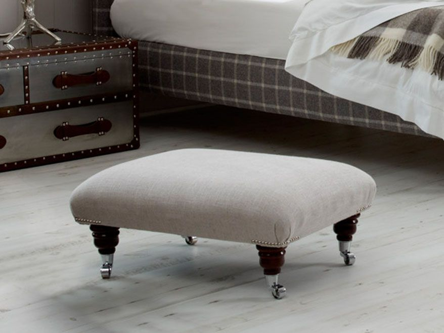 & Elliot Upholstered Studded Footstool | The English Bed Company islam-shia.org