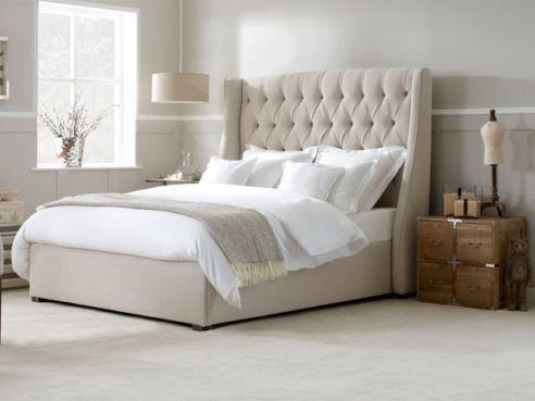 Austen Super King Bed-Bacio Dove