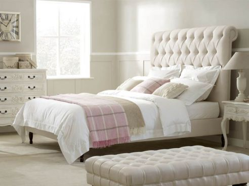 Bronte Super King Bed-Silt Velvet