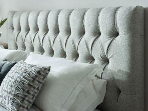 Lawrence Super King Headboard-Lily Sand