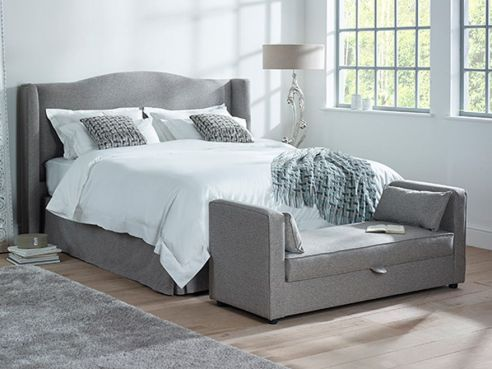 Marlow Super King 2 Drawer Bed-Regency Grey