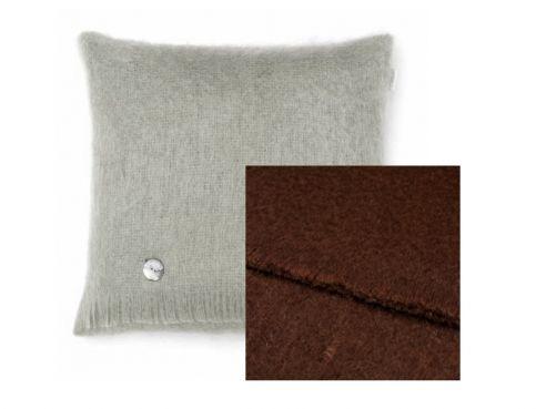 Mohair Cushion Chocolate