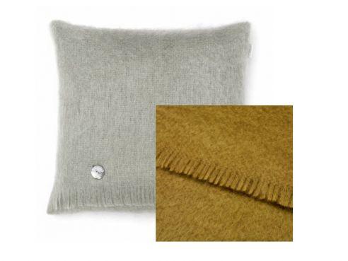 Mohair Cushion Hazel Green